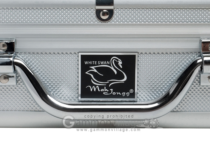 Aluminum Black Mahjong Modern Pusher Arms White//Burgundy Tiles Details about  /Mah Jongg Set